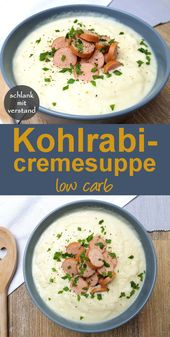 Kohlrabi cream soup low carb