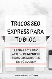 Trucos SEO Express: prepara tu sitio web en 20 minutos