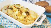 Cómo se hacen las papas al horno con pimientos y ajo – Recetas – # ajo # cómo …   – Patatas