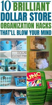 10 Mind Blowing Dollar Store Organization Hacks th…