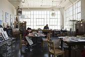 Illustrator Workspace printmaking / illustration studio