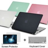 Details about Matte Hard Case For Macbook Air Pro Retina 11 12 13 15 Laptop Bag Keyboard Cover