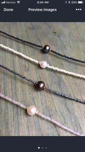 Collier de perles avec perle
