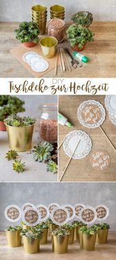 DIY einfach und preiswert: Machen Sie Ihre eigenen Deko-Ideen für Ihre Hochzeit   – Floristisch
