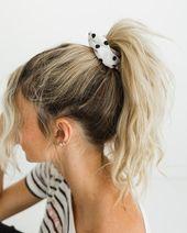 *Lover Girl White Hair Scrunchie - Luca + Grae