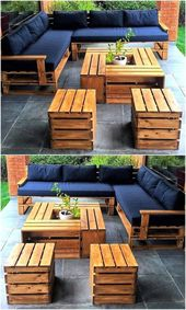 Be inspired to create a complete DIY pallet furniture set for you