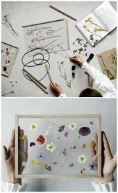Fácil bricolaje de un marco vegetal flotante con marco de madera vintage …