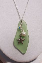 Peridot Recycled Glass Pendant by ChelestersCreations on Etsy  #chelesterscreati…