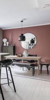 Idées de déco pour un salon rose et noir