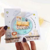 Baby Cards Train birthday card, big brother card, new baby card.