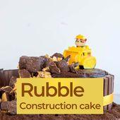 Paw Patrol Construction Cake – Tutorial fácil de pastel de cumpleaños   – oliver birthday party