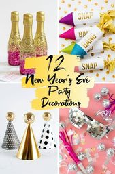 12 NEW YEARS EVE PARTY DECORATIONS TO RING IN THE NEW YEAR  Pretty Colorful Life – Entertaining