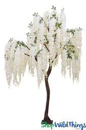 Schnee-Brunnen-Creme-blühender weinender Kirschbaum – 8 Fuß hoch   – artificial trees