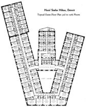 The Statler Hotel: Typical Guest Floor Plan – #Floor #Guest #Hotel #Plan #Statle…
