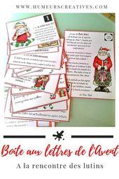 La boîte aux lettres de l'Avent : les lutins du Père Noël (calendrier de l'Avent) –