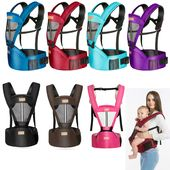Baby Carrier Newborn Baby Carrier Kangaroo Toddler Sling Wrap Portable Infant Hipseat Soft Br...