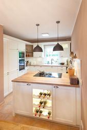 Modern Country Kitchen White Classic Wood Kitchen Island Bora Neff 061