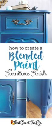 Blue Painted Furniture: Your Blended Paint Inspiration ~Thea   – DIY Furniture