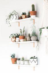 Geometric Air Plant / Succulent Pots – Set of 3 – Concrete – INTERIOR   bedroom