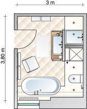 Dusche und Stauraum dank Raumteiler – Badezimmer – [SCHÖNER WOHNEN]  – Bad