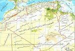 خريطة الجزائر المفصلة ولايات الجزائر بالاسماء والارقام Map World Map Map Screenshot