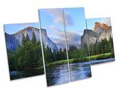 Yosemite Landscape Sunset CANVAS WALL ART Multi Panel Picture Print