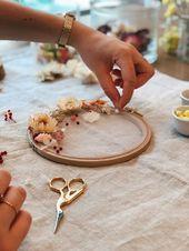 DIY décoration : réaliser un tambour fleuri