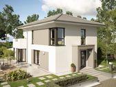 Fertighaus EVOLUTION 122 V11 modern mit Walmdach – Bien-Zenker   direkter Aufbau   – Fassadenfarbe