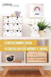 Kinderzimmer Ideen. Die IKEA  MOPPE Minikommode mit unseren Klebefolien für die… – DIY fürs Kinderzimmer