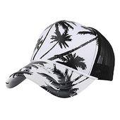 Grefer hats s mens coconut tree printing hip hop baseball cap sun hats flat hat  – Products