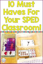 10 Most Wanted Classroom Provides In The SPED Classroom