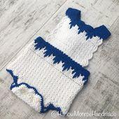 Crochet barboteuse motif seulement-téléchargement de fichier PDF vêtements bébé le barboteuse Harlow par Harlow Monroe main   – Products