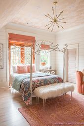 Addison's Bright Coral Young Girl's Bedroom Reveal