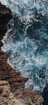Iphone wallpaper wild blue sea iPhone X wallpaper # blue #background image …  – iphone Hintergrundbild
