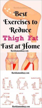 10 einfache Übungen zur Verringerung der Oberschenkel Fett in einer Woche – motivation