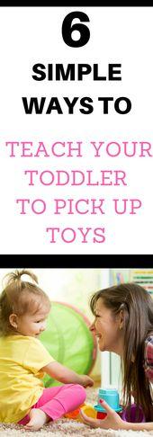 Wie Sie Ihr Kleinkind zum Aufräumen von Spielzeug ermutigen   – Toddler Tips & Information