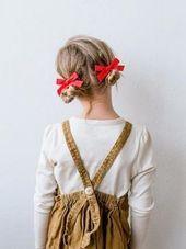 Hairstyles for little girls with bows Two Mini Dutts – …- Frisuren für kleine Mädchen mit Schleifen zwei Mini Dutts – September 21 2019 …  Hai…