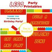 Kostenlose Lego-Ausdrucke für Ihre nächste Party!   – Birthday Boy!