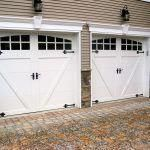 This particular garage door carriage is truly a magnificent style theme. #garage...