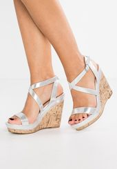 Oiler Sandaly Na Obcasie Silver Refashion Clothes Shoes Wedges