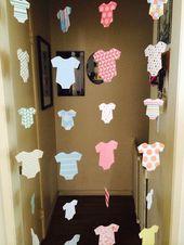 Baby Shower Dekoration – Willkommen zu Hause Baby Dekoration – Strampler Girlanden – Boy, G