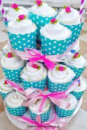 Baby Shower Haul Anleitung für Windel Cupcakes. Geschenkidee zur Geburt. Windeltorte.   Einfache...