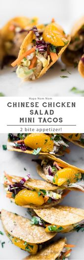 Chinese Chicken Salad Mini Tacos