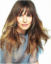 Half-length hairstyles with bangs