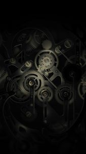Huawei Mate Gear Dark Illust Art #iPhone #7 #wallpaper