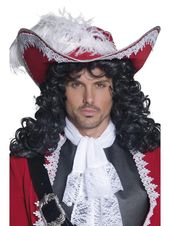 44″ Red and White Authentic Pirate Unisex Adult Halloween Hat Costume Accessory – One Size