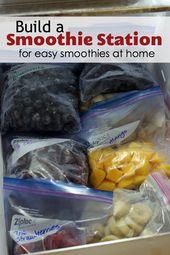 Bauen Sie eine Smoothie-Station für einfache Smoothies zu Hause   – Food