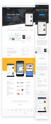 UX, visual design and development for Quixey
