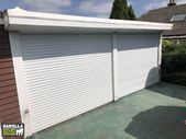 Double White Garage Doors