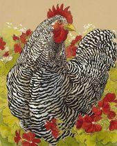 Tracie Thompson MIXED MEDIA – Chicken Art, Chicken Decor und mehr! – #Kunst … …   – Keramische Kunst